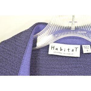 Habitat Tops - Habitat top jacket SZ S deep purple asymmetrical h